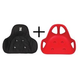 Pack Siège Lotus Triad rouge + Housse de siège rembourrée JR