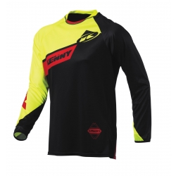 Maillot Kenny BMX jaune fluo / rouge
