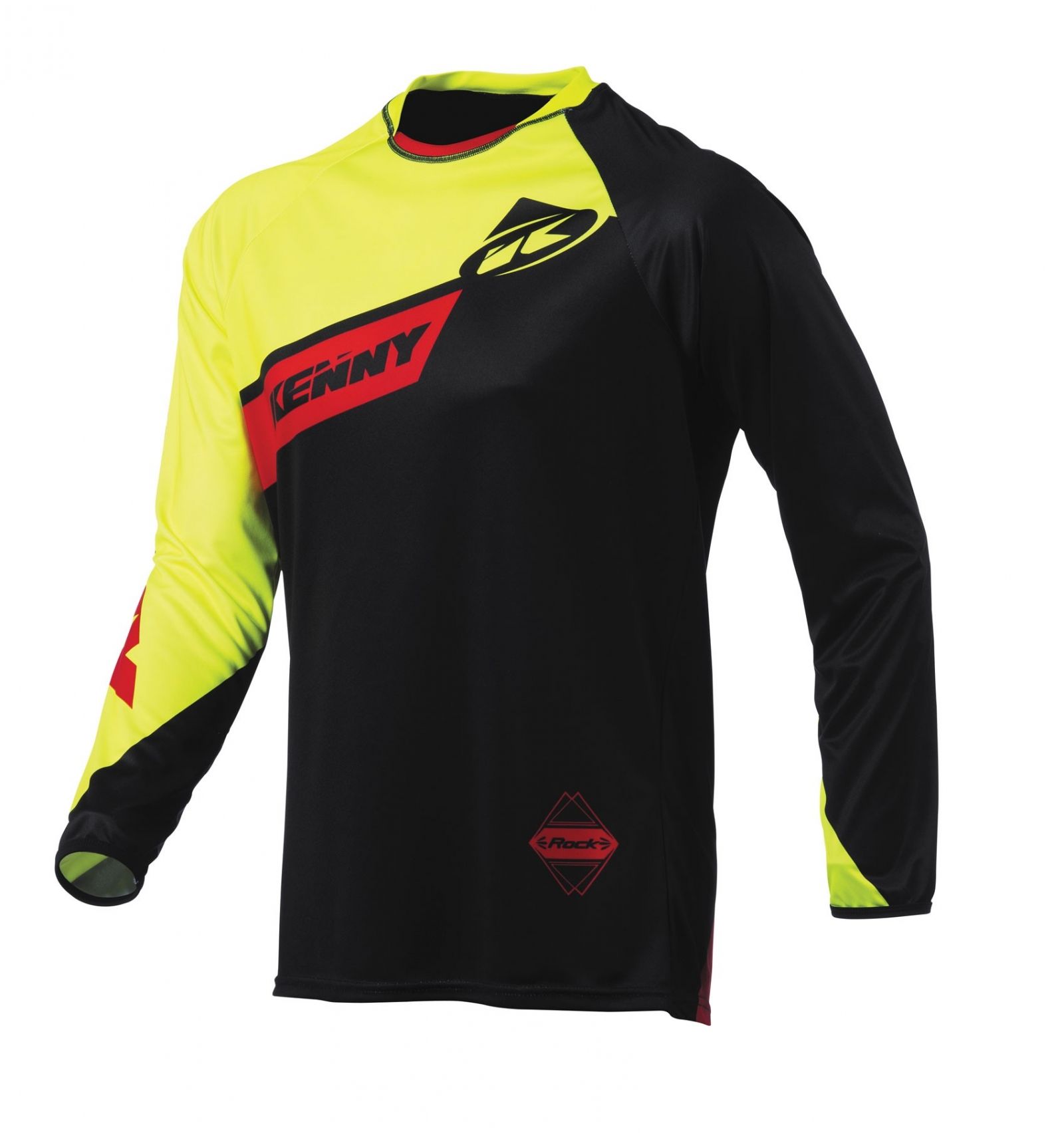 Maillot kenny bmx dh jaune fluo / rouge