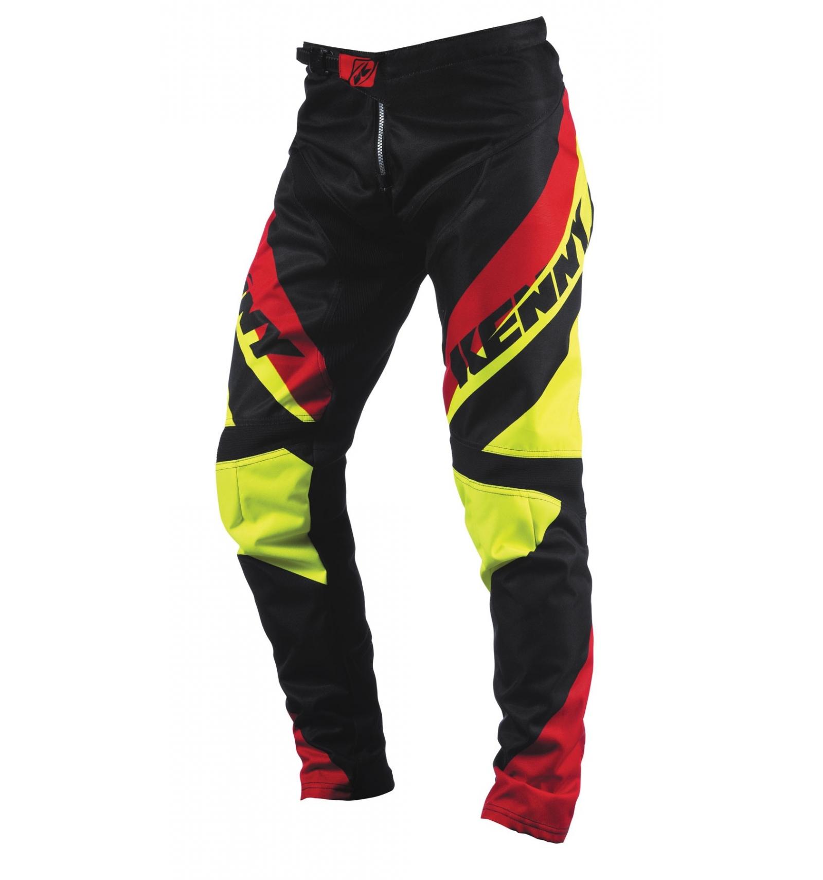 Pantalon kenny bmx 2015 jaune fluo / rouge