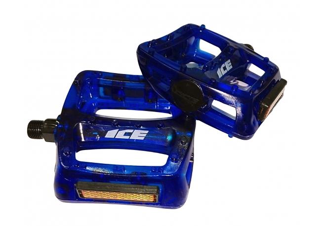 Pédales Ice-Fast kristal Bleu