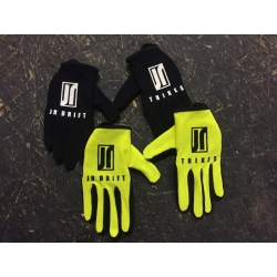 "Gants JR Drift Trikes Jaune / Noir ""Keep It 90°"""