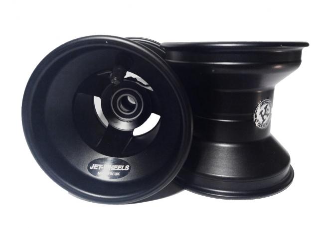 paire de jantes de karting jet wheels 120 mm black. Black Bedroom Furniture Sets. Home Design Ideas
