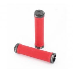 Poignées GUSSET Lock-on rouge / noir