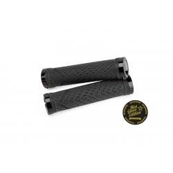 Poignées K-Trix SIXPACK-Racing Noires  / Lock-On  Gomme Soft