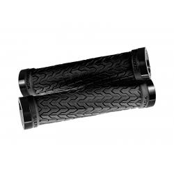 Poignées S-Trix SIXPACK-Racing Noires Gomme Soft / Lock-On