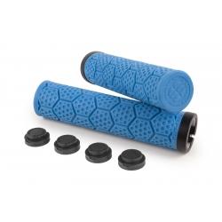 Poignées D-Trix SIXPACK Bleues / Lock-On