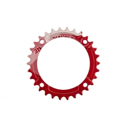 Plateau SIXPACK K-Ring Narrow-Wide 12V (104 BCD) Rouge