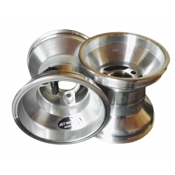 Paire de Jantes JET WHEELS 120 mm Silver fixation 3 trous