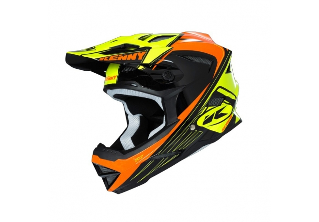 Casque KENNY Scrub orange fluo / jaune fluo