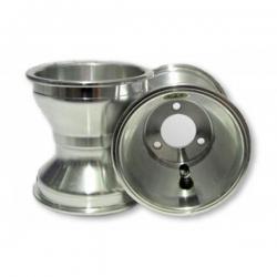 Paire de Jantes GoldSpeed 120 mm Silver fixation 3 trous