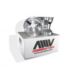 Paire de Jantes AMVKART 120 mm Silver fixation 3 trous