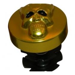 Etoile de jeu de direction + capuchon skull jaune
