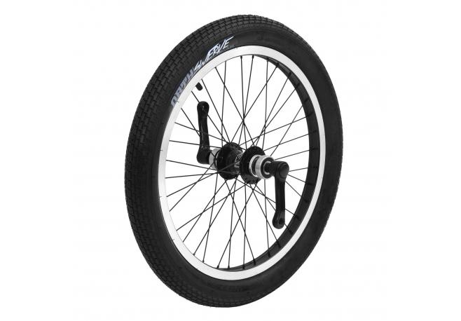 Roue avant à roue libre noire (freinage patin)