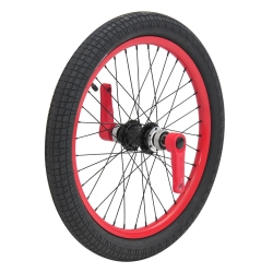 Roue avant Dynasty Triad Drift Trikes rouge, freinage disque