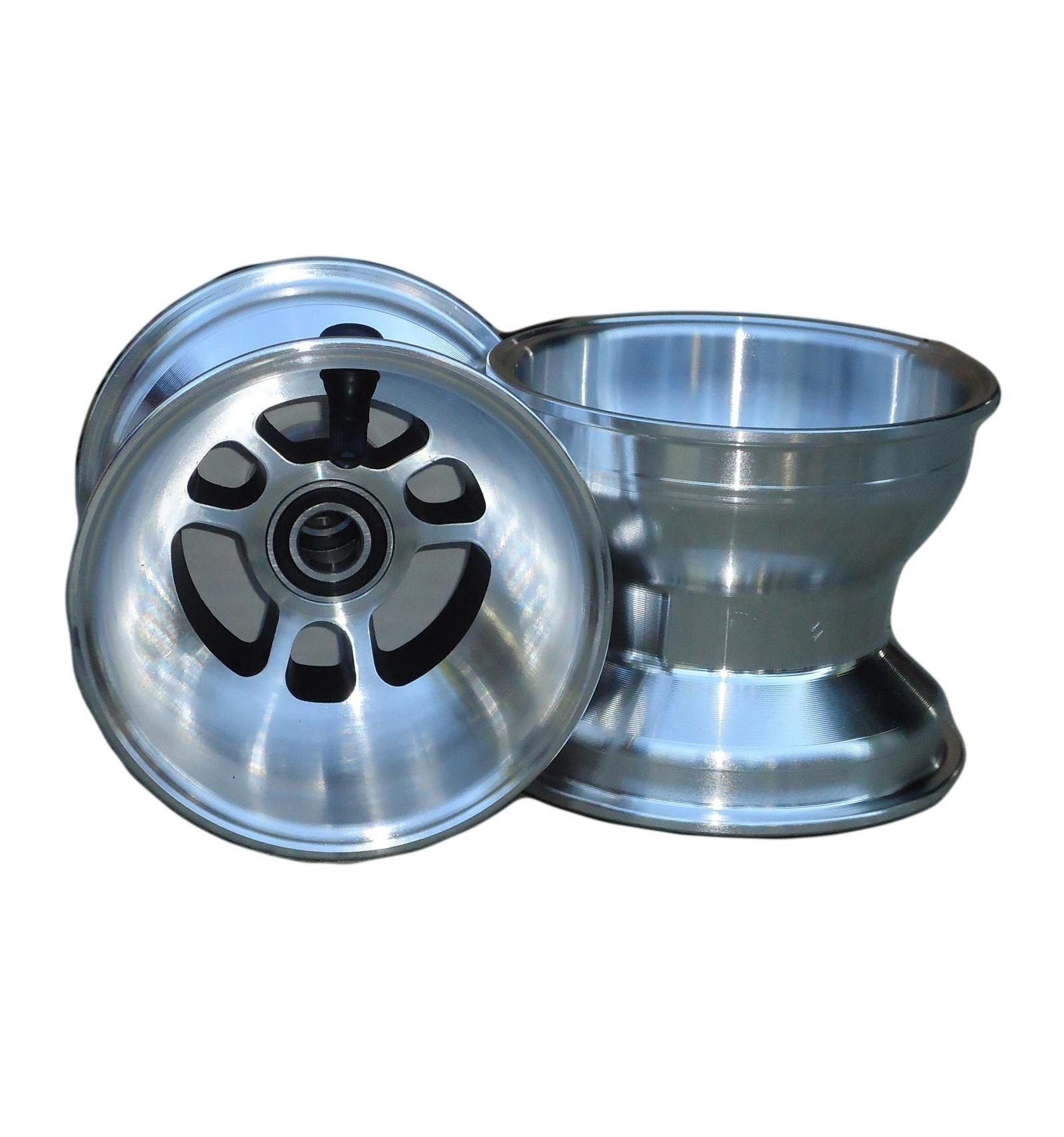 paire de jantes de karting douglas 110 mm silver drift trike. Black Bedroom Furniture Sets. Home Design Ideas