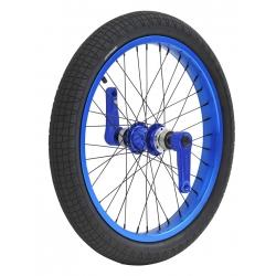 Roue avant Dynasty anodisé bleue, freinage disque, cerclage large