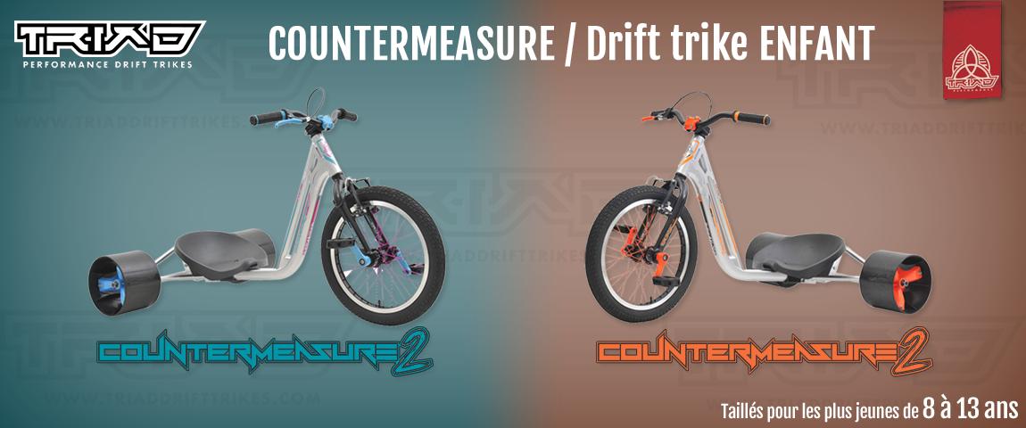 Triad Drift Trike Countermesaure SPÉCIAL ENFANT !